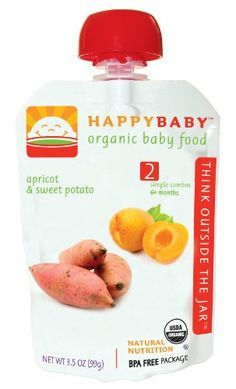 HAPPYBABY Organic Baby Food, Stage 2, Apricot « Holiday Adds