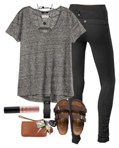 """OOY- outfit of yesterday"" by prep-lover1 ❤ liked on Polyvore featuring мода, lululemon, Kendra Scott, Fitbit, Birkenstock, Tory Burch, Lilly Pulitzer и NYX"