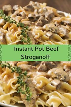 Instant pot recipes 411446115952287138 - Instant Pot beef stroganoff – cut the cooking time Source by bryanblume Parmesan Recipes, Pasta Recipes, Crockpot Recipes, Cooking Recipes, Cooking Time, Healthy Recipes, Instant Pot Pressure Cooker, Pressure Cooker Recipes, Pressure Cooking