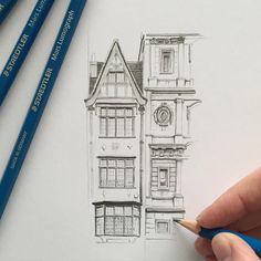 #art #drawing #pencil #sketch #illustration #london #architecture
