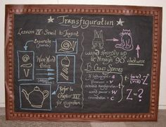 Decor -  Transfiguration Chalkboard Instructions in McGonagall's class -- hhc