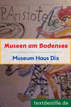 In Hemmenhofen am Bodensee lebte der Maler Otto Dix fast 33 Jahre lang. Das Haus, in dem er mit seiner Familie gewohnt hat, ist heute ein überaus sehenswertes Museum, das Einblick in das Leben der Künstlerfamilie Dix gibt. #textdestille Otto Dix, Museum, Blog, Baseball Cards, House, Road Trip Destinations, Beautiful Places, Artworks, Culture