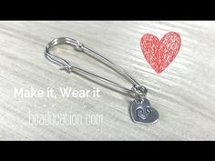 How to Make a Wire Safety Pin - Tutorial DIY Jewelry - YouTube