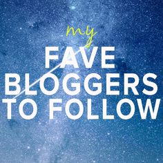 The Lemonade Society: My Favourite Bloggers To Follow