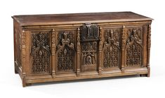 Image result for italian oak carved panel with roman soldier Gothic Furniture, Roman Soldiers, Coffer, Casket, Hope Chest, Restoration, Decorative Boxes, Auction, Carving
