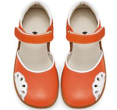 See Kai Run Laura Orange Girls Mary Janes from seekairun.com - cool baby shoes, toddler shoes, kids shoes and baby booties.