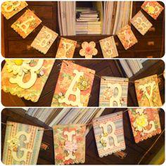 Handmade Baby Shower Banner :)