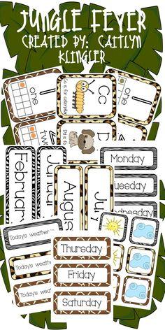 Jungle Themed Classroom Decor!