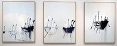 """cy twombly - """"three studies from the temeraire"""", oil on canvas (triptych) Art Gallery, Art Works, Contemporary Paintings, Cy Twombly Paintings, Robert Motherwell, Painting, Abstract Artwork, Art, Abstract"""