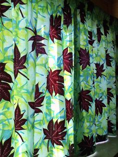 Curtains made with Vlisco Java Print fabric.