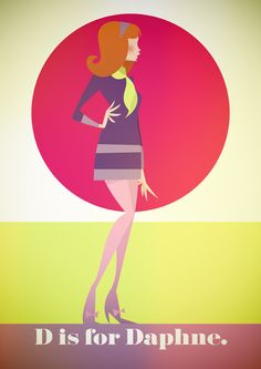 D is for Daphne - Stanley Chow Illustration