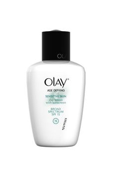 Olay Age Defying Sensitive Skin Day Lotion with Broad Spectrum SPF 15, $12.99