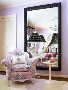 Love This Large Scale Mirror And That It Reflects Such A Pretty View Of The Room