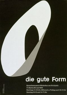 Emil Ruder, poster design for the exhibition die gute form, 1958. Switzerland. More to see here80magazine