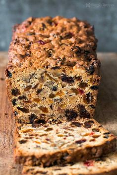 Fabulous holiday fruitcake! With dates, raisins, walnuts, glazed cherries, and orange zest. Perfect for Christmas celebrations. #christmas #holiday #baking #quickbread