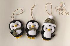 Mimos e Feltros: Pinguins de Natal