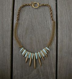 """""""Sailing to Byzantium"""" necklace--love this gal's work!! If you have a moment, be sure to check out her Etsy shop!"""