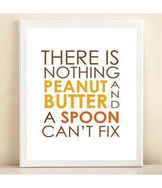 Peanut Butter print poster. $15.00, via Etsy.