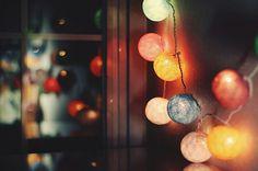 pretty garland string lights