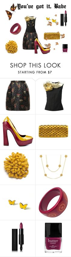 """You've got it, Babe"" by flowerbud77 ❤ liked on Polyvore featuring RED Valentino, Dries Van Noten, Blink, Gucci, Felt So Good, Lauren G Adams, Tiffany & Co., Givenchy, Butter London and vintage"