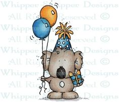 Party Koala - Birthday Images - Birthday - Rubber Stamps - Shop