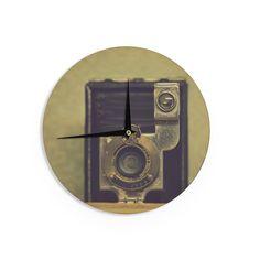 "Robin Dickinson ""EKC Jan 1910"" Brown Tan Wall Clock"