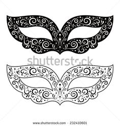 Vector Illustration Of Black And White Masquerade Masks Isolated On Background