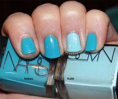 blue nail color palette