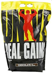 Universal Nutrition Real Gains, Chocolate Ice Cream, High quality protein Complex carbs for longer lasting energy Blends easily with water Flaxseed oil Fiber in the form of inulin Best Creatine Supplement, Best Weight Gainer, Ways To Gain Weight, Sciatica Exercises, Belly Exercises, Knee Exercises, Fitness Exercises, Casein Protein, Universal Nutrition