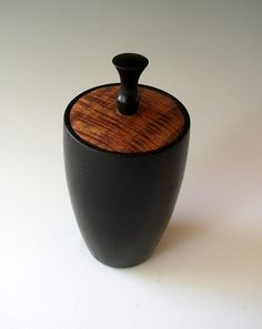 Ebony And Koa Lidded Box