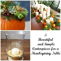 5 Beautiful and Simple Centerpieces for a Thanksgiving Table | eBay