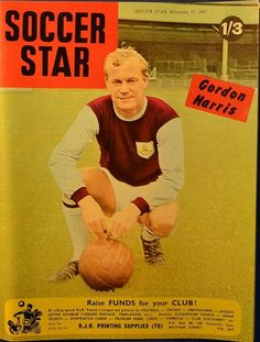 Burnley Fc, Printing Supplies, Soccer Stars, Vintage Football, Magazine Articles, Name Cards, Surrey, Magazines, Legends