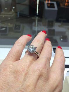 4.00ct 18ct white gold diamond solitaire. Lots of LOVE!   #diamond #engagement #ring #love #marryme #style #diamonds #diamondsinternational #shimmer
