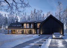 Dom jednorodzinny w stylu nowoczesnej stodoły - http://lk-projekt.pl/lkand1324-produkt-9653.html