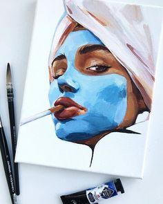 art painting Kunst mit S - art Pencil Art Drawings, Art Drawings Sketches, Arte Sketchbook, Drawn Art, Arte Pop, Portrait Art, Acrylic Portrait Painting, Watercolor Portraits, Oil Painting Abstract