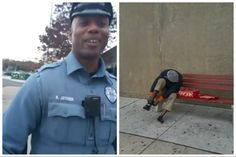 Random acts of kindness can change the world. Officer Joyner's act of kindness has gone viral. (Kayla Palmer/Facebook)