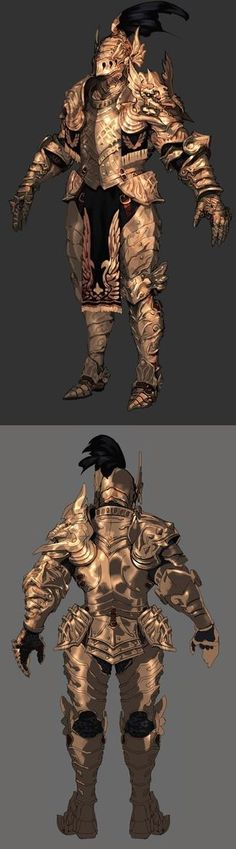 게임캐릭터 갑옷(아머) 원화 자료 : 네이버 블로그