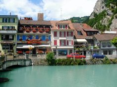 Interlaken, Switzerland. Yes, the water is truly that color