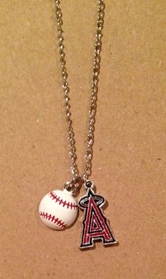 Anaheim Angels Baseball Necklace on Etsy, $12.00