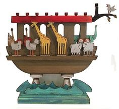 Noah's Ark Children's Chanukah Menorah by ACME Animal