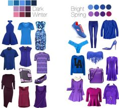 Dark Winter vs Bright Spring - Blues and Purples