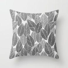 Lots of leaves  Throw Pillow