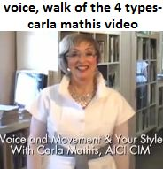 watch carla mathis youtube video here: www.youtube.com/watch?v=mL64ilbMWwY carla mathis (student of suzanne caygill & author of triumph of individual style book) describing body language of the 4 types.
