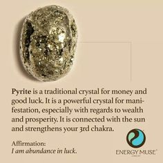 Pyrite, good luck, money, prosperity, wealth, sun, third chakra