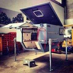 Truck Bed Camper, Truck Tent, Pickup Camper, Truck Camping, Camper Trailers, Slide In Camper, Mini Camper, Off Road Camper, Landrover Camper