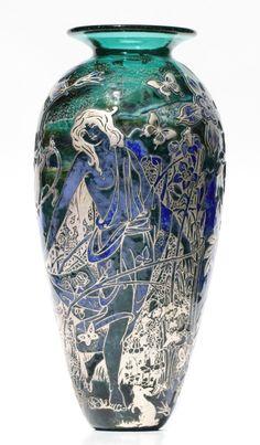 Cameo Art Nouveau vase