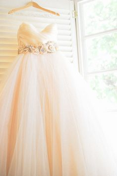 pale blush gown by http://www.jlmcouture.com/Lazaro  Photography By / loveandlemonade.com
