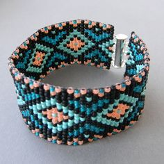 Colorful beaded bracelet  seed bead bracelet by Anabel27shop,