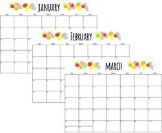 Free 18 Month Printable Calendar: 2013 - 2014 on Crafted by Lindy