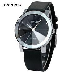 Brand New luxury SINOBI 981 Casual Diamond Male Elegant female Clock Man woman Lady Wrist Watches dress Wristwatch reloj Gift